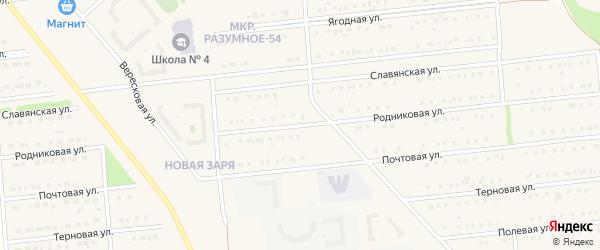 Родниковая улица на карте Белгорода с номерами домов