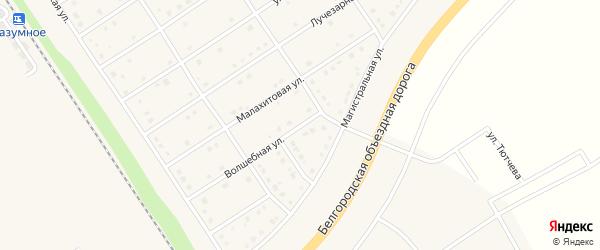 Волшебная улица на карте поселка Разумного с номерами домов