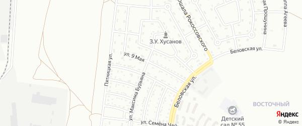 9 Мая улица на карте Белгорода с номерами домов