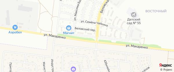 Улица Виктора Лосева на карте Белгорода с номерами домов
