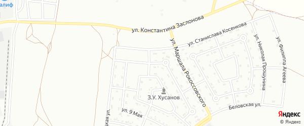 Улица Станислава Молодых на карте Белгорода с номерами домов