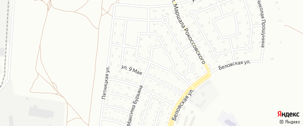 Улица Григория Гритчина на карте Белгорода с номерами домов