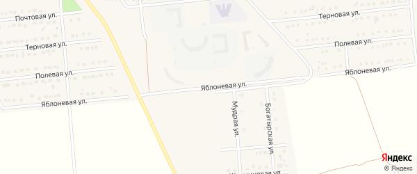 Яблоневая улица на карте поселка Разумного с номерами домов
