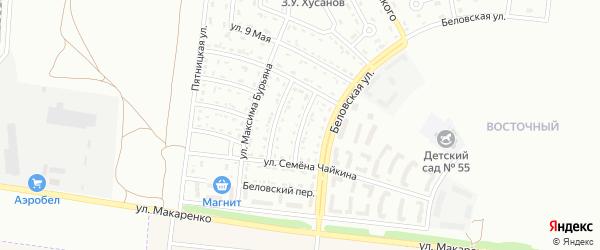 Большетроицкий 2-й переулок на карте Белгорода с номерами домов