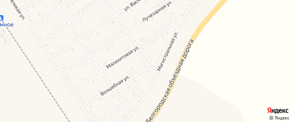 Малахитовый переулок на карте поселка Разумного с номерами домов