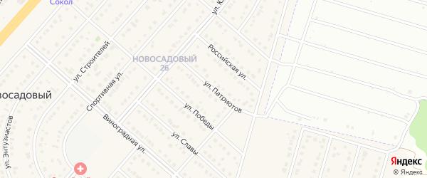 Улица Патриотов на карте Новосадового поселка с номерами домов
