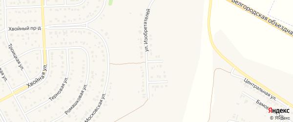 Улица Изобретателей на карте Новосадового поселка с номерами домов