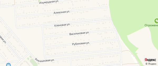 Васильковая улица на карте поселка Разумного с номерами домов