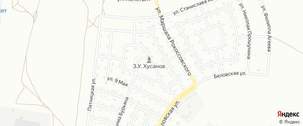 Улица Зиямата Хусанова на карте Белгорода с номерами домов