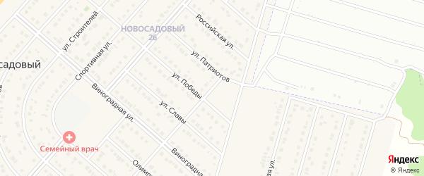 Переулок Победы на карте Новосадового поселка с номерами домов