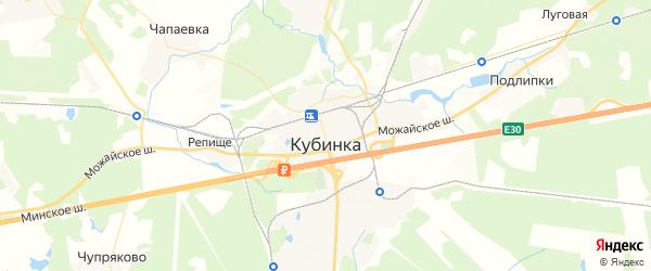 Карта Кубинки с районами, улицами и номерами домов