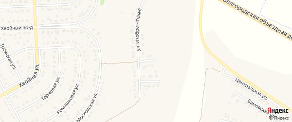 Проезд 2-й Изобретателей на карте Новосадового поселка с номерами домов