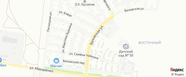 Беловская улица на карте Белгорода с номерами домов