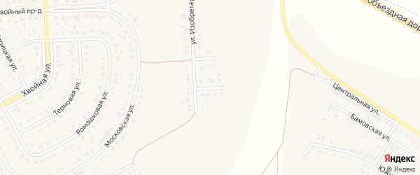 Проезд 1-й Изобретателей на карте Новосадового поселка с номерами домов