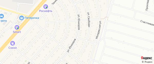 Улица Юниоров на карте Новосадового поселка с номерами домов