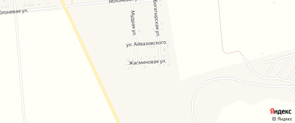 Жасминовая улица на карте поселка Разумного с номерами домов