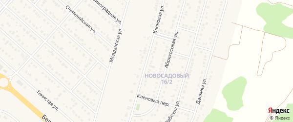 Кленовая улица на карте Новосадового поселка с номерами домов