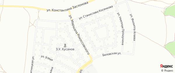 Улица Михаила Добронравова на карте Белгорода с номерами домов
