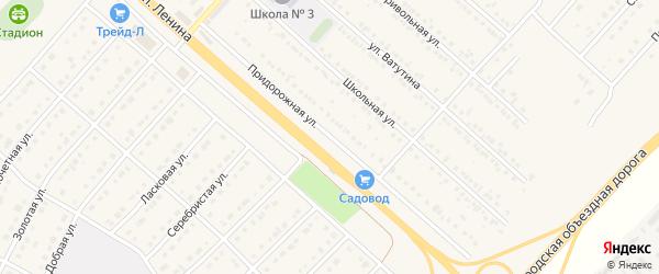 Придорожная улица на карте поселка Разумного с номерами домов