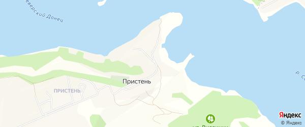 Карта хутора Пристеня в Белгородской области с улицами и номерами домов