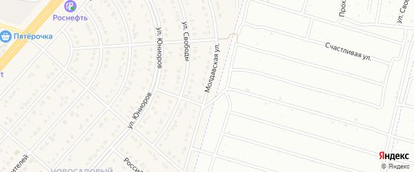 Молдавская улица на карте Новосадового поселка с номерами домов
