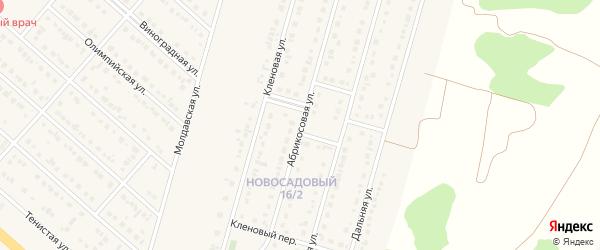 Абрикосовая улица на карте Новосадового поселка с номерами домов