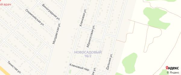 Абрикосовый переулок на карте Новосадового поселка с номерами домов