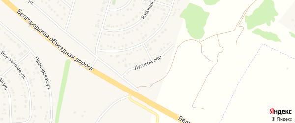 Луговой переулок на карте Новосадового поселка с номерами домов