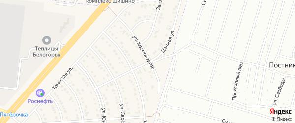 Дачная улица на карте Новосадового поселка с номерами домов