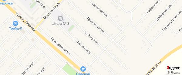 Улица Ватутина на карте поселка Разумного с номерами домов