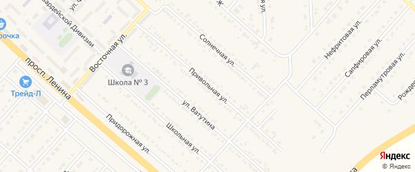 Привольная улица на карте поселка Разумного с номерами домов