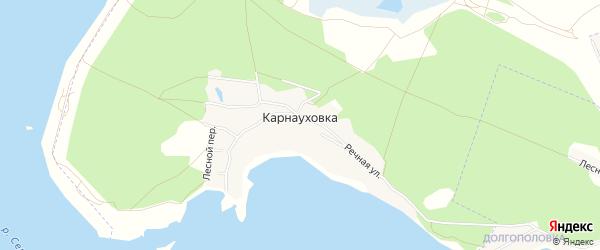 Карта села Карнауховки в Белгородской области с улицами и номерами домов