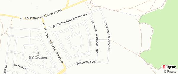 Улица Николая Сурнева на карте Белгорода с номерами домов