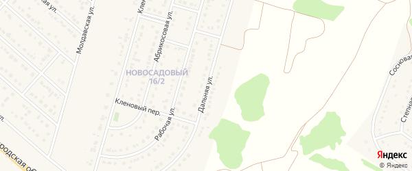 Дальняя улица на карте Новосадового поселка с номерами домов