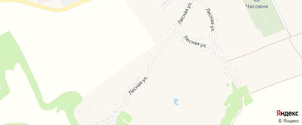Лесная улица на карте поселка Прохоровка с номерами домов