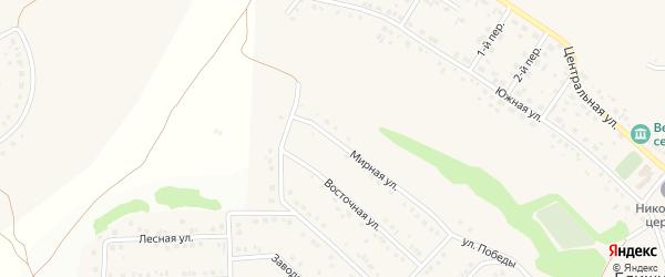 Мирная улица на карте села Ближней Игуменки с номерами домов
