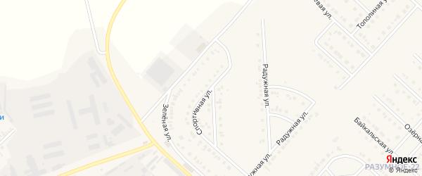 Спортивная улица на карте поселка Разумного с номерами домов