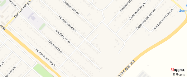 Привольный переулок на карте поселка Разумного с номерами домов