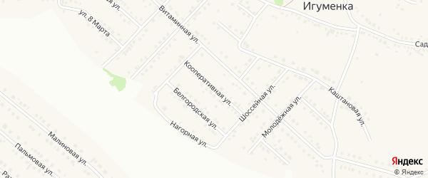 Кооперативная улица на карте села Ближней Игуменки с номерами домов
