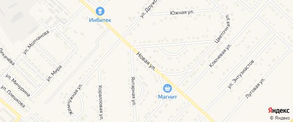 Новая улица на карте поселка Разумного с номерами домов