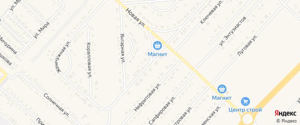 Янтарная улица на карте поселка Разумного с номерами домов