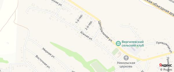 Южная улица на карте села Ближней Игуменки с номерами домов