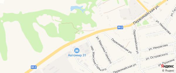 Первомайская улица на карте поселка Прохоровка с номерами домов