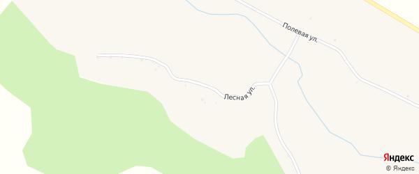 Лесная улица на карте Сажного села с номерами домов
