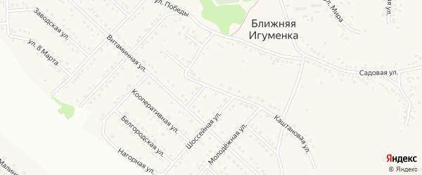 Первомайский переулок на карте села Ближней Игуменки с номерами домов