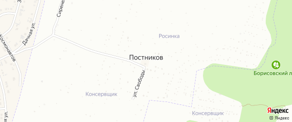 СНТ Кристалл-2 на карте хутора Постникова с номерами домов