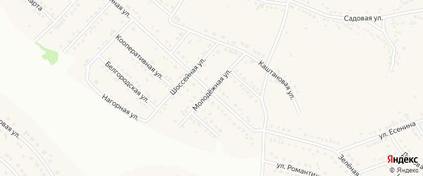 Молодежная улица на карте села Ближней Игуменки с номерами домов