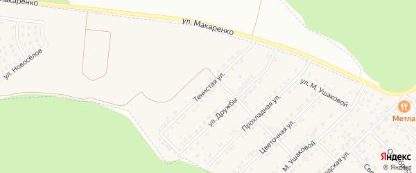 Тенистая улица на карте Беловского села с номерами домов