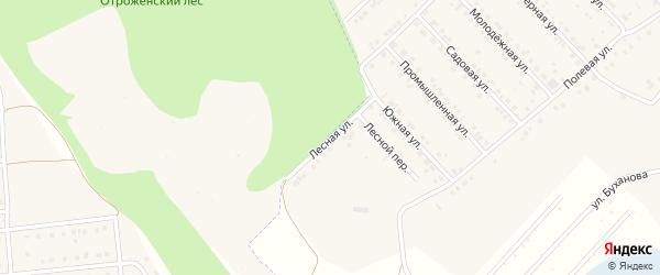 Лесная улица на карте Беловского села с номерами домов