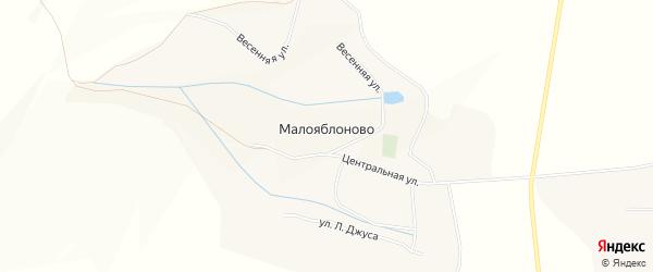 Карта села Малояблоново в Белгородской области с улицами и номерами домов